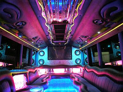 soirée dans une limousine